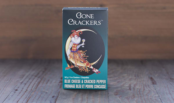 Blue Cheese & Cracked Pepper Crackers