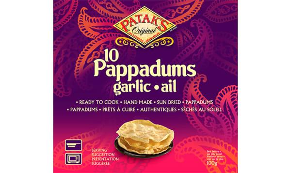 Pappadums - Garlic