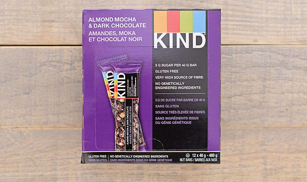 Dark Chocolate Mocha Almond Bar - CASE