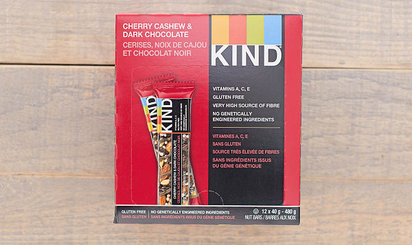Dark Chocolate Cherry Cashew Bar - CASE