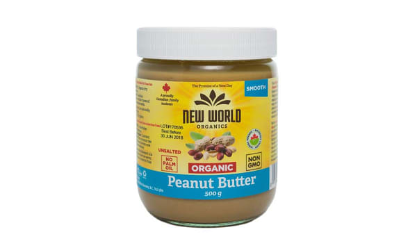 Organic Peanut Butter - Smooth, Unsalted