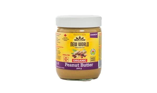 Organic Peanut Butter - Crunchy, Unsalted