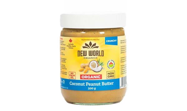 Organic Coconut Peanut Spread - Crunchy, Salted