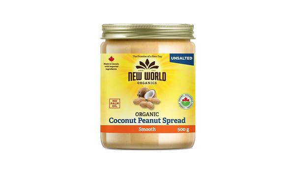 Organic Coconut Peanut Spread - Smooth, Unsalted