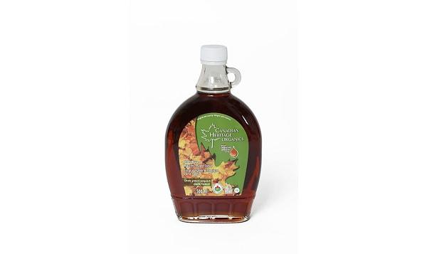 Organic Maple Syrup - Grade A, Dark, Robust Taste