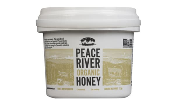 Organic Peace River Creamed Honey, Pail