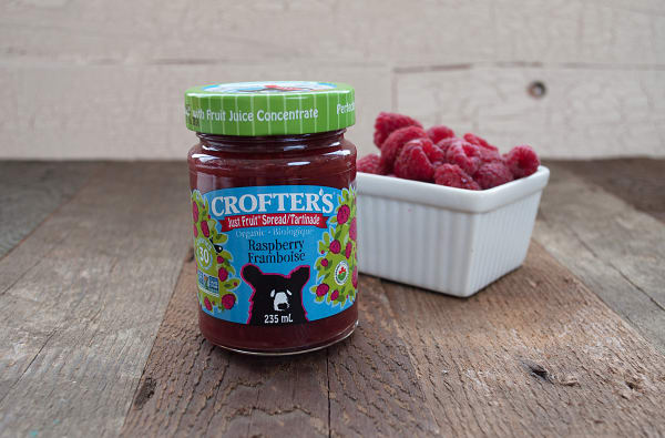 Organic Raspberry Just Fruit Spread