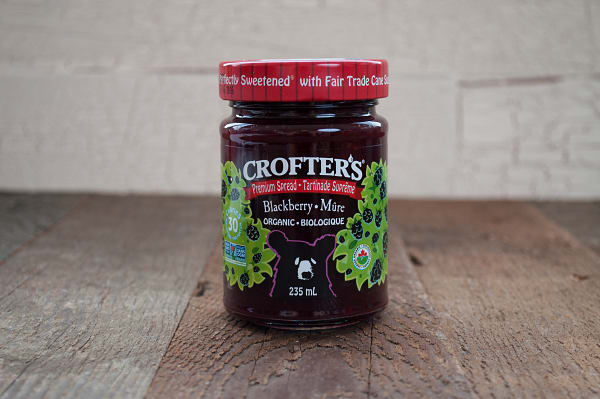 Organic Blackberry Premium Fruit Spread