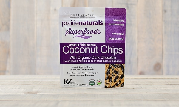 Organic Coconut Chips with Dark Chocolate