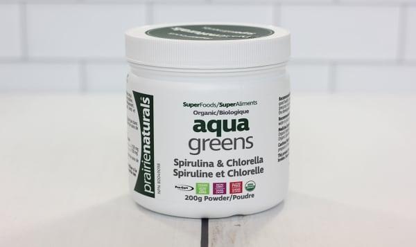 Organic Aqua Greens - Spirulina & Chlorella Powder