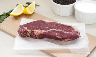 Grass Fed/Grass Finished Striploin Steak (Frozen)- Code#: MP734-NV