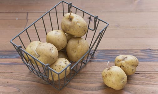 Local Organic Potatoes, Imperfect - Purple/Yellow Imperfect- Code#: PR202176LCO