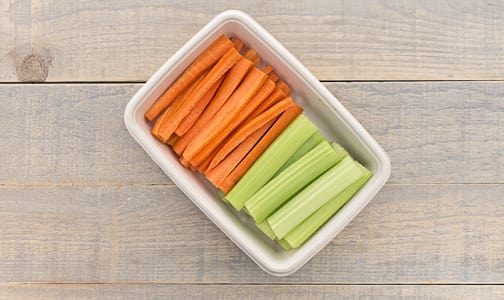 Organic Carrots, Carrots and Celery Sticks- Code#: PR147842NCO