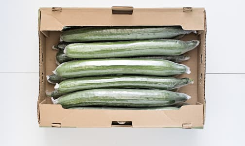 Local Organic Cucumbers, Long English - CASE- Code#: PR217054LCO