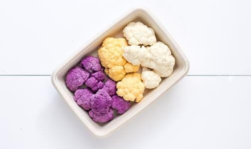 Local Organic Cauliflower, Multicolour Floret Tray- Code#: PR217084LCO