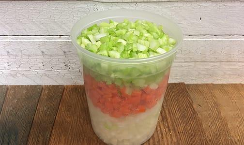 Organic Mirepoix (Soup Mix), Fresh Cut- Code#: PR147896NCO