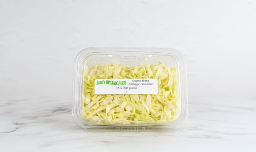 Local Organic Cabbage, Green, Shredded- Code#: PR147543LCO