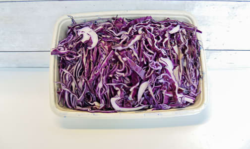 Organic Cabbage, Red, Shredded- Code#: PR147544NCO