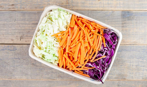 Local Organic Coleslaw Mix, Fresh Cut- Code#: PR217122LCO