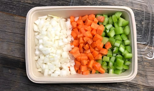 Organic Mirepoix (Soup Mix), Fresh Cut- Code#: PR147561NCO