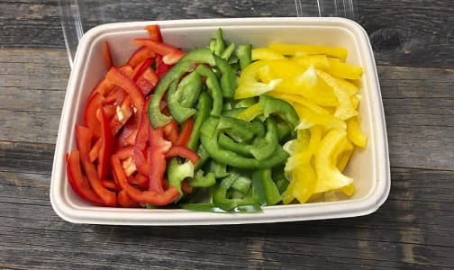 Organic Peppers, Rainbow Mix, Julienned- Code#: PR147881NCO