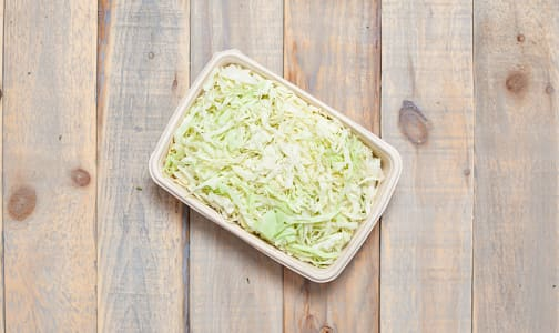 Local Organic Cabbage, Green, Shredded- Code#: PR217138LCO