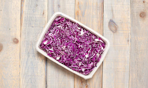 Local Organic Cabbage, Red, Shredded- Code#: PR217139LCO