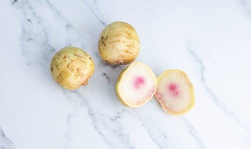 Organic Radishes, Watermelon - No Tops- Code#: PR100574NPO