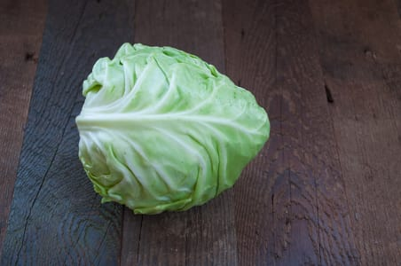Local Organic Cabbage, Green - 1-2 lbs- Code#: PR100057LCO