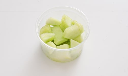 Organic Melons, Honeydew, Chunks, Fresh Cut Small- Code#: PR217075NCO