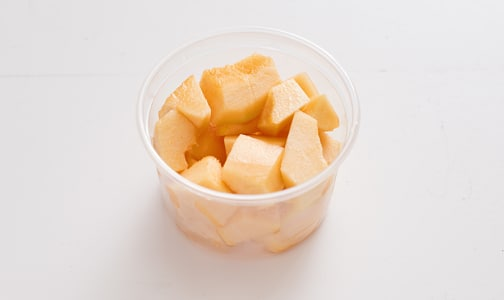 Organic Cantaloupe, Chunks, Fresh Cut Small- Code#: PR147865NCO