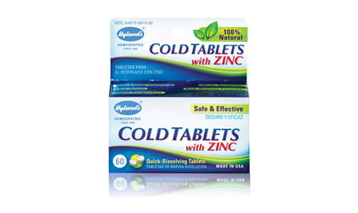 Cold Tablets with Zinc- Code#: VT0476