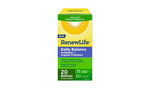 Daily Balance Probiotics + Organic Prebiotics- Code#: VT1147