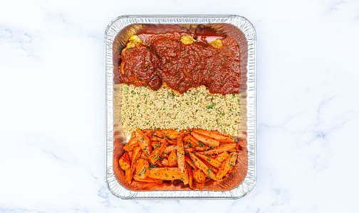 Moroccan Chicken with Spiced Cous Cous, Honey Roasted Carrots & Salad- Code#: LLK0091
