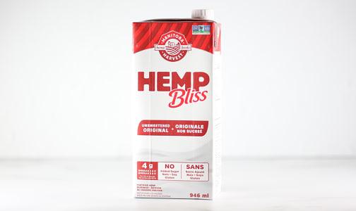 Organic Hemp Bliss - Original Unsweetened- Code#: DR1945