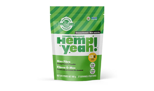 Hemp Yeah! Max Fibre Hemp Protein Powder - Unsweetened- Code#: PC4222