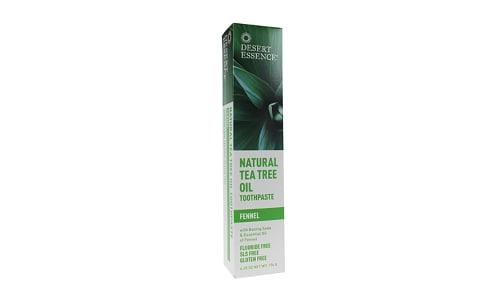 Tea Tree Oil Toothpaste - Fennel- Code#: PC3289