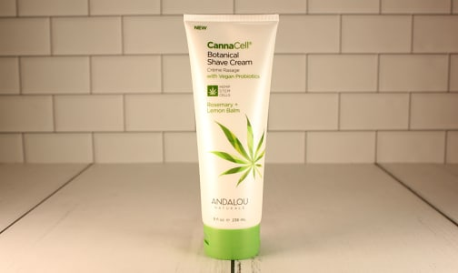 Organic CannaCell® Botanical Shave Cream - Rosemary + Lemon Balm- Code#: PC4595