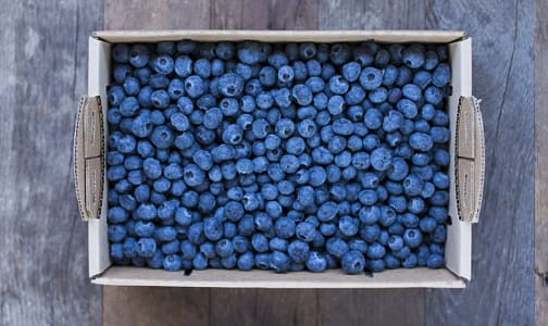 Local Organic Blueberries, 5 lb Box- Code#: PR216776LCO
