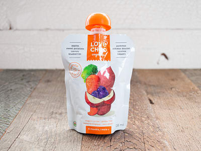 Organic Super Blends Sweet Potato, Carrot, Apple & Blueberry- Code#: BB013