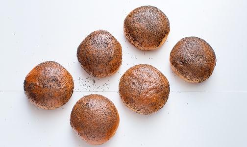 Brioche Hamburger Poppy Seed Buns- Code#: BR0235
