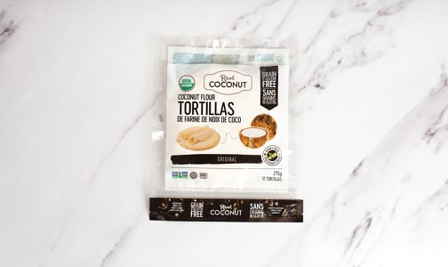Organic Real Coconut - Coconut Flour Tortilla (Frozen)- Code#: BR0483