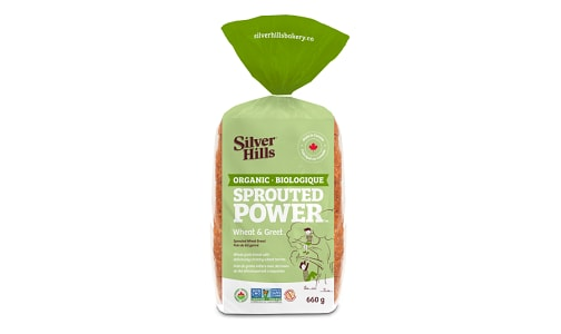 Organic Wheat & Greet Sprouted Bread (Frozen)- Code#: BR0495