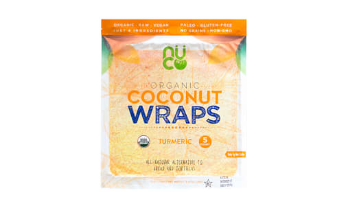 Organic Coconut Wraps - Turmeric- Code#: BR0549