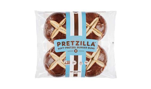 Soft Pretzel Burger Buns (Frozen)- Code#: BR0569