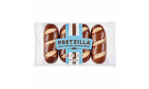 Soft Pretzel Sausage Buns (Frozen)- Code#: BR0575