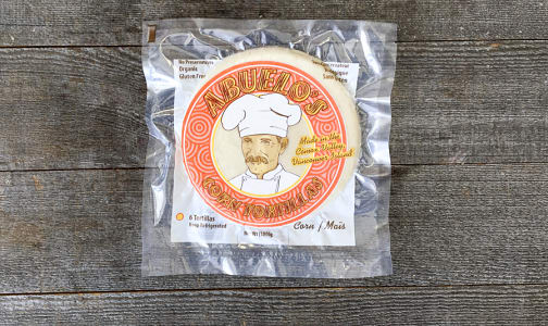 Organic Gluten Free White Corn Tortillas - Hand Made (Frozen)- Code#: BR0792