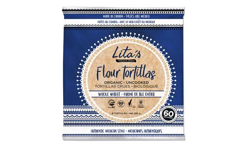 Organic Whole Wheat Flour Tortillas (Frozen)- Code#: BR1224