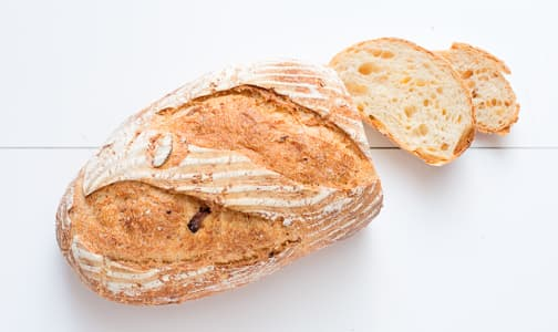 Cheese & Garlic Sourdough Unsliced - Yeast, Sugar & Fat Free- Code#: BR172