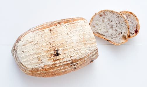 Cranberry & Pecan Sourdough Unsliced - Yeast, Sugar & Fat Free- Code#: BR174